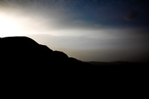 silhouette of mountains in the holy land