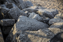 rocks along a shore