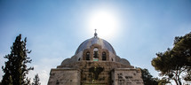 dome and bells of a church in the holy land
