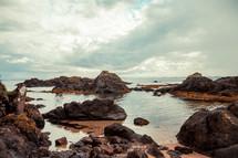 rocks in a tide pool in Europe