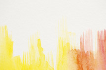 yellow, red, orange, watercolor background