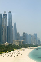 Dubai shoreline and skyscrapers