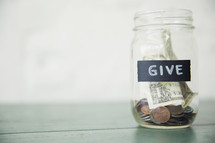 Give money jar
