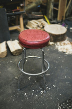 stool in a workshop