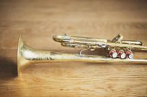 a brass trumpet