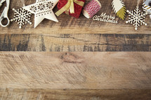 Christmas, border, gift wrapping, scissors, wood, star, snowflake, ribbons
