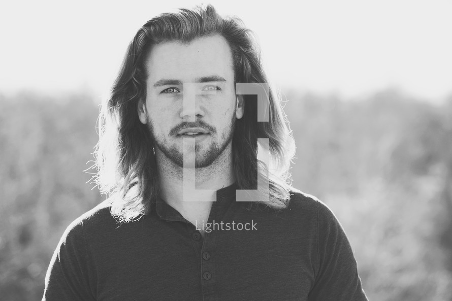 A man with long hair