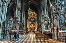 A cathedral interior in Austria