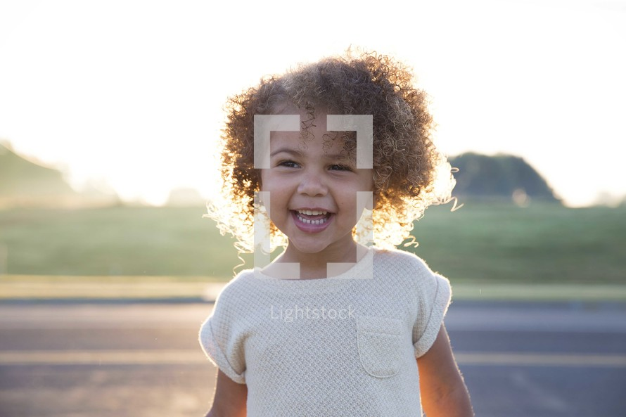 a smiling happy toddler girl