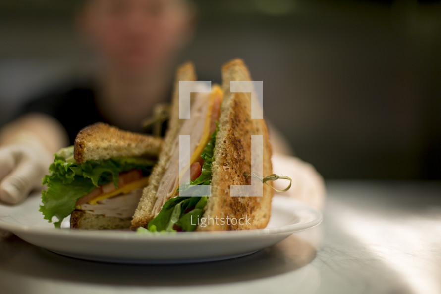 a club sandwich on a plate