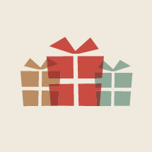 wrapped gifts illustration.