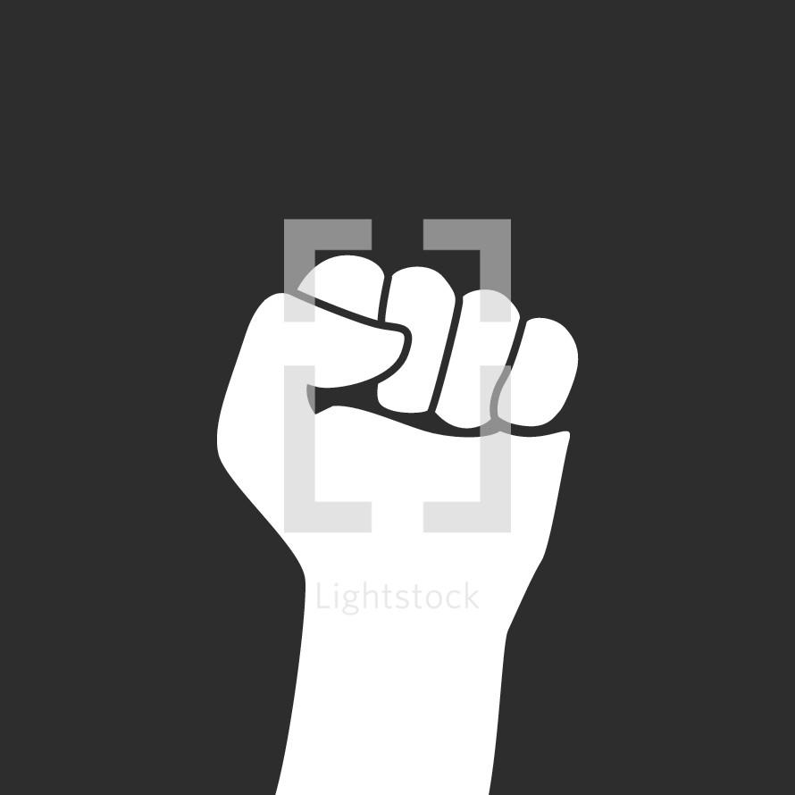 closed fist illustration.