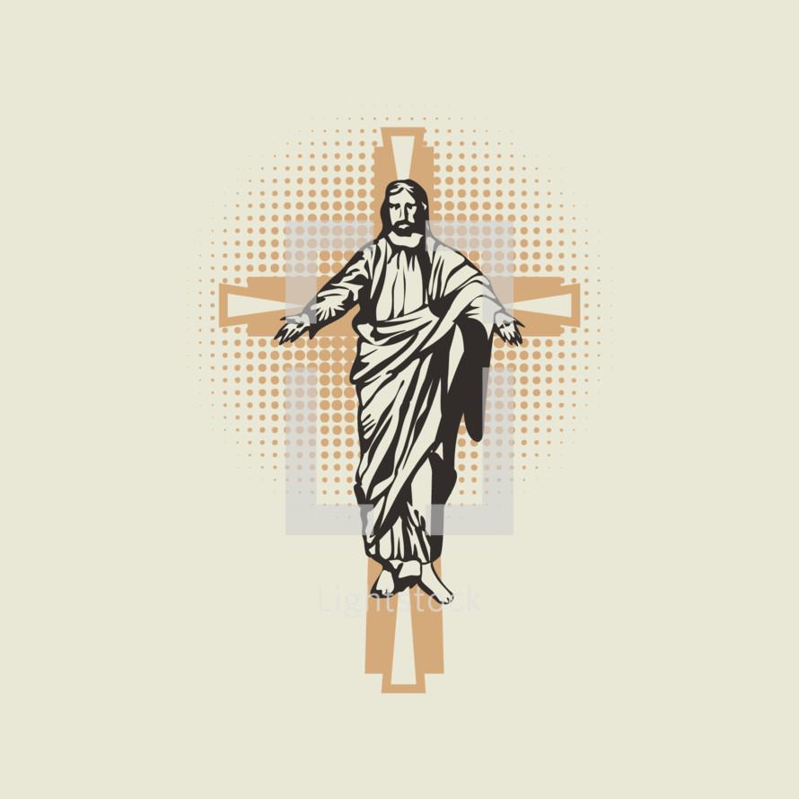 Jesus on the cross icon