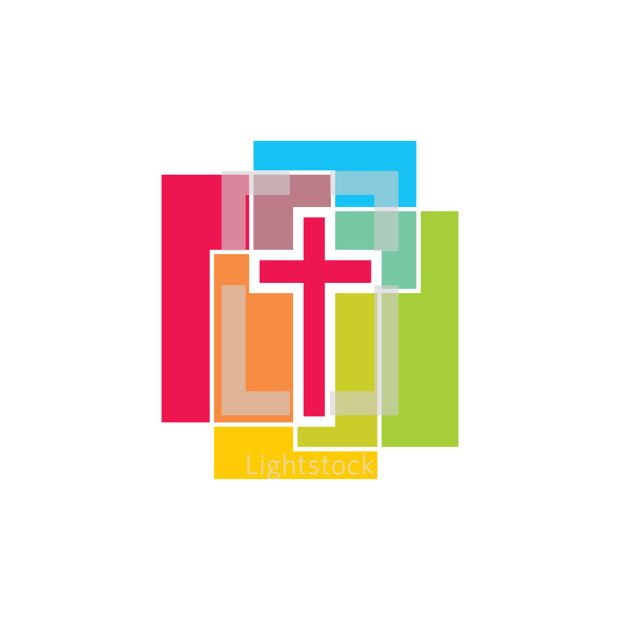 cross and color blocks