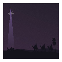 Star of Bethlehem and wisemen