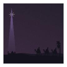 Star of Bethlehem and wisemen