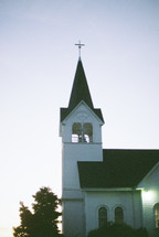 white church steeple