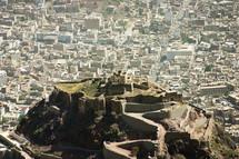Old castle on a hilltop in Yemen.