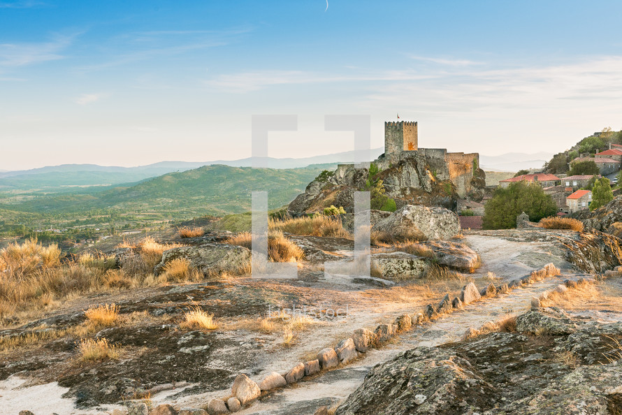 Sortelha Castle on top of the hill, Portugal