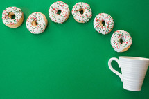 coffee and Christmas donuts