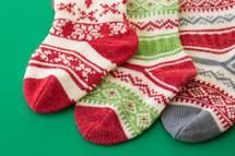 knit Christmas stockings