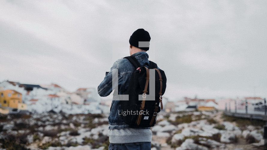 man with a backpack