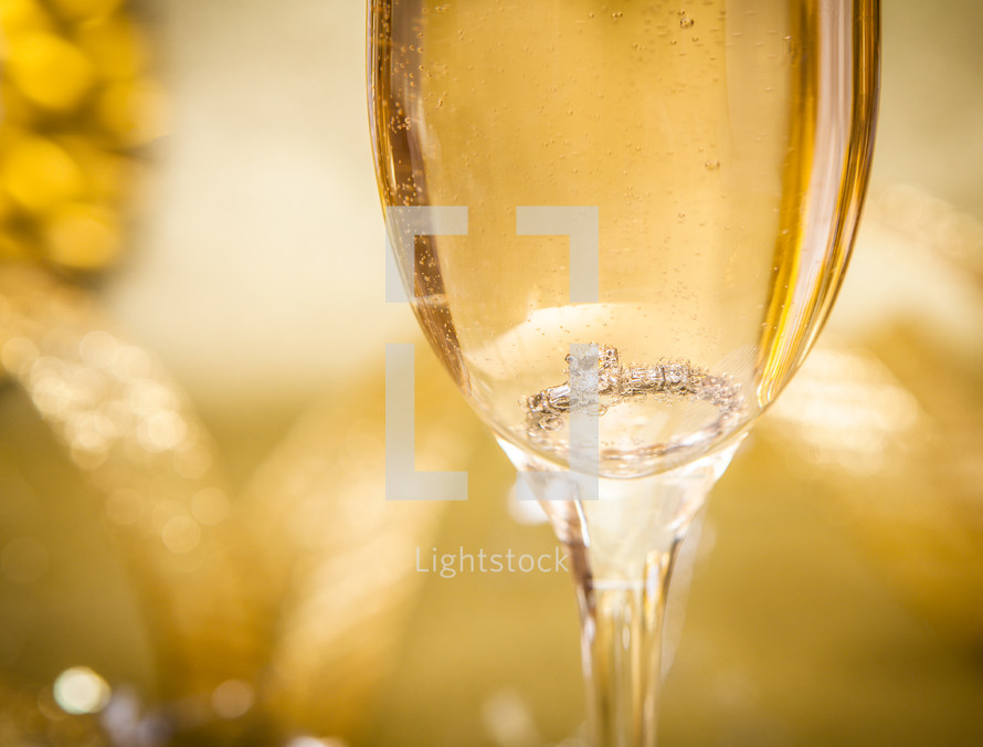Engagement Ring in Champagne