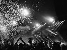 confetti at a concert