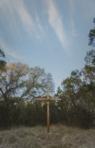 wooden cross outdoors