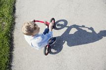 boy child riding a bike