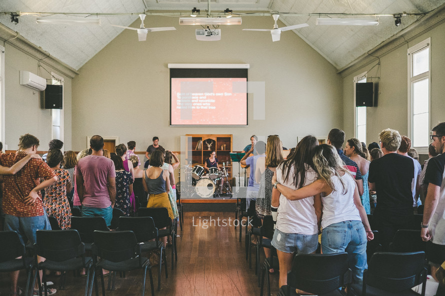 worship music at a worship service