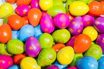 plastic Easter eggs