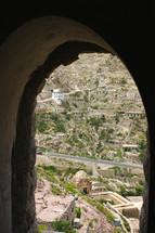 window view of a city in Yemen
