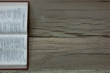 A Bible opened to The Psalms