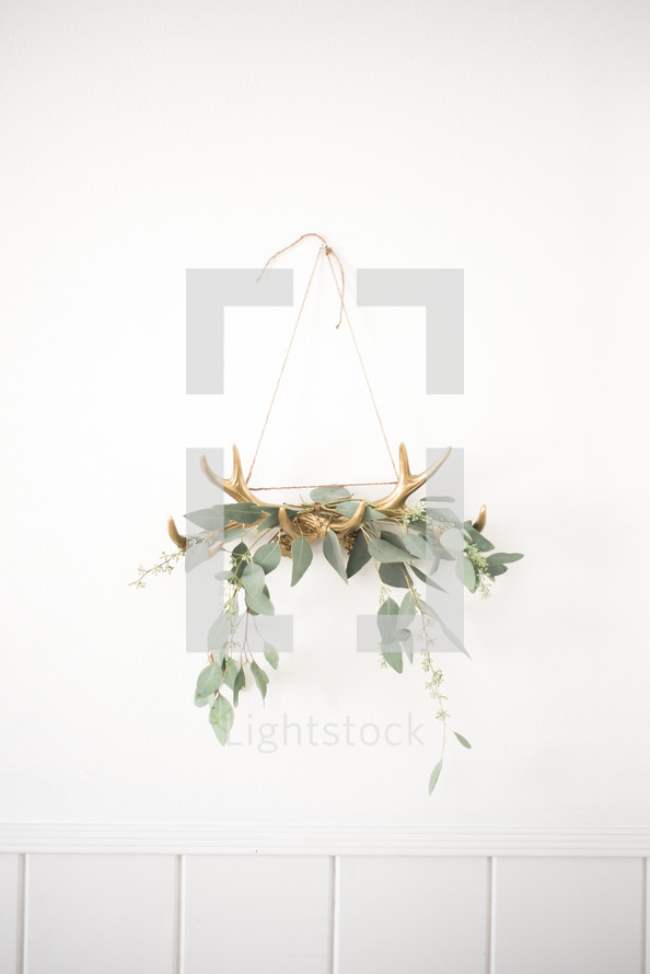 twigs on golden antlers