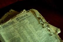 old worn newspaper