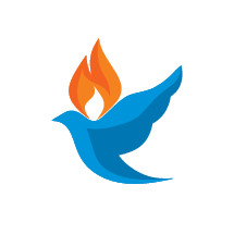 dove with flames icon