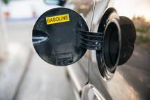 open gasoline cap
