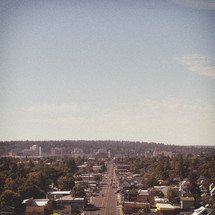 modest city skyline