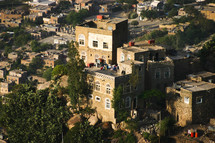 old buildings in a city in Yemen