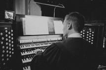 A man playing the organ