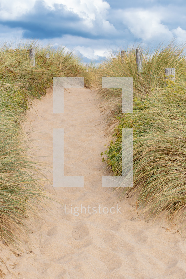 path through sand dunes
