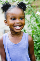 a smiling girl child