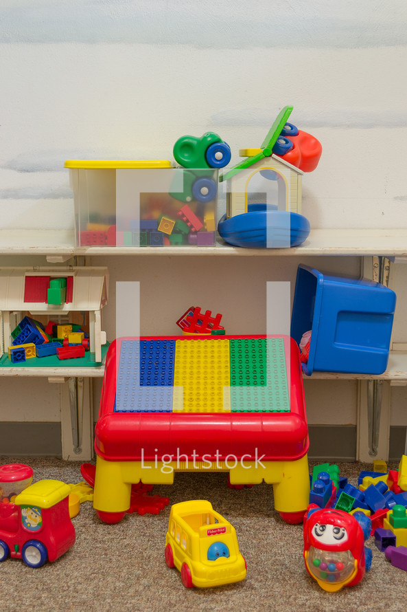 toys in a daycare center