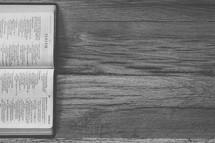 sideways Bible opened to Isaiah