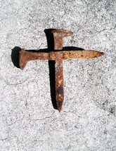 Nail cross - The nails that were used to crucify Jesus were no doubt something like this. Old, rusty, and used many times to bring pain and death to many at the hands of the Roman empire. These nails are about 7 to 9 inches long and half an inch in diameter. We see the cross in many forms today resembling something beautiful like a piece of art, yet the cross was nothing but beautiful. It was rustic, bloodied, filled with splinters and designed to intimidate and bring pain and death.