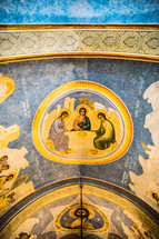 biblical paintings on a ceiling