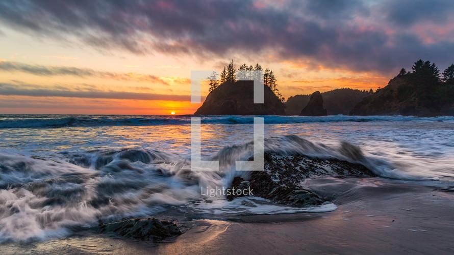 Trinidad beach seascape