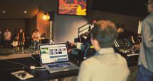 sound production crew