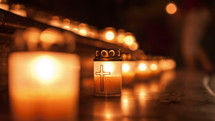 lighting prayer candles